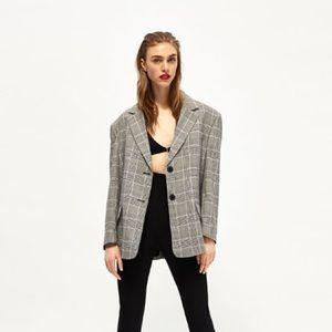 Zara Oversized Checked Blazer M
